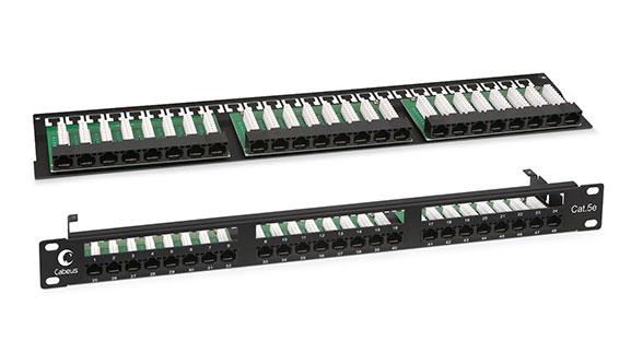 Патч-панель 19 (1U), 48 портов RJ-45, категория 5е, Krone IDC.<br />Для удобства монтажа верхняя кроссированная панель съёмная.