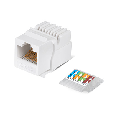 Cabeus KJ-RJ45-Cat.6-Toolless Вставка Keystone Jack RJ-45(8P8C), категория 6, без инструмента Toolless, белая