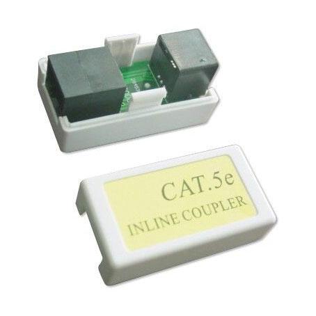 Cabeus CA-8P8C-C5e-WH Проходной адаптер (coupler), RJ-45(8P8C), категория 5e