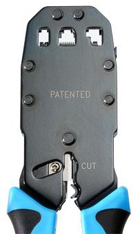 Cabeus HT-2008A Инструмент обжимной для RJ-45, RJ-12, RJ-11 (8P8C, 6P6C, 6P4C, 4P4C), профессиональный.