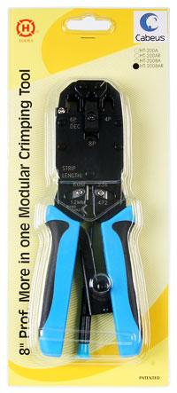 Устройство обжимное для RJ-45, RJ-12, RJ-11, профессиональное, храповый механизм .
