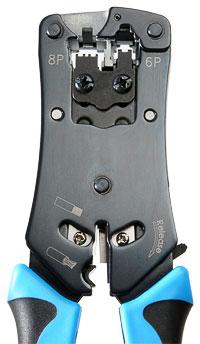 Cabeus HT-N468B Инструмент обжимной для RJ-45, RJ-12, профессиональный.