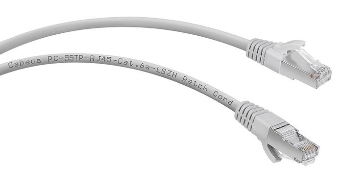 Экранированные патч-корды 6a (10Gb) категории Cabeus.