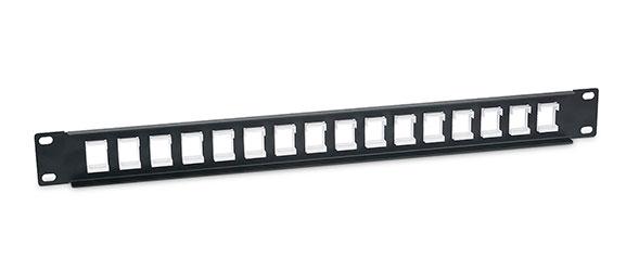 Cabeus PLB-16 Модульная патч-панель 19, 16 портов, 1U, без модулей.<br />Вид сзади.